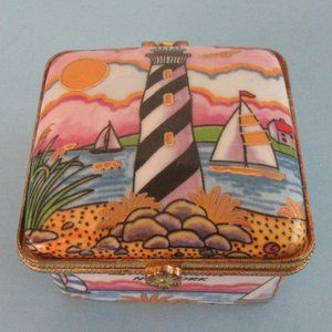 Lighthouse jewelry box - trinket or ring box